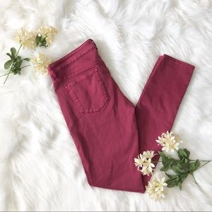 Volcom Burgundy skinny leggings fit pants